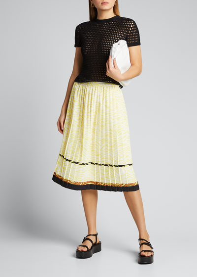 Pluto Pleated Midi Skirt