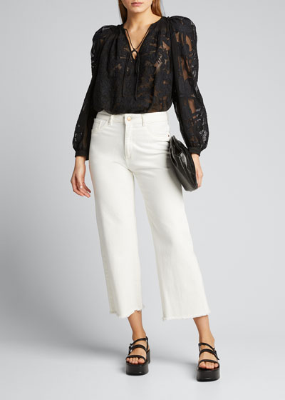 Delano Embroidered Sheer Top