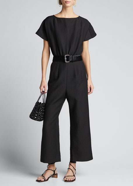 Image 1 of 1: Benedict Short-Sleeve Jumpsuit