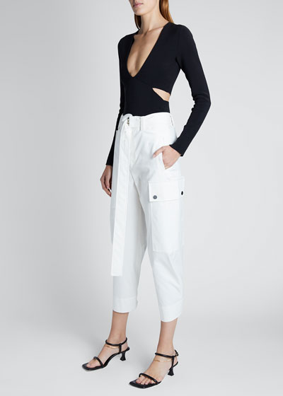 Cotton Belted Cargo Pants