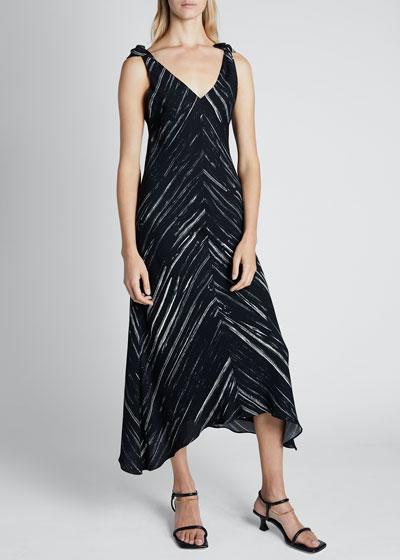 Printed Georgette Sleeveless Dress