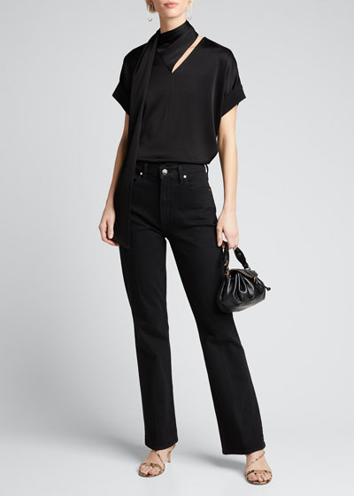 The Comfort High-Rise Boot-Cut Jeans