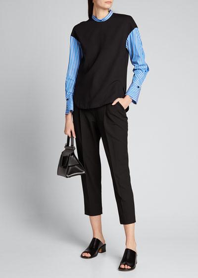 Long-Sleeve Wool Combo Top