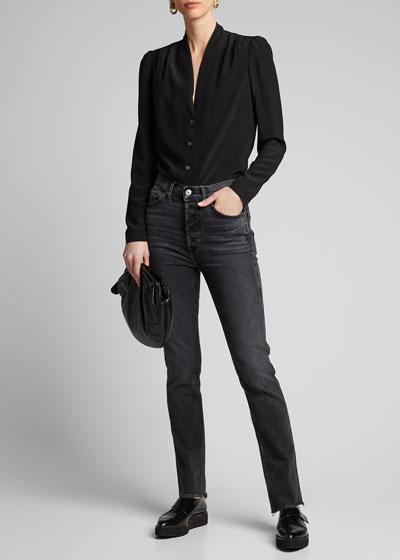 80s Slim Straight-Leg Jeans