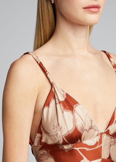 Gaiana Floral-Print Handkerchief Dress