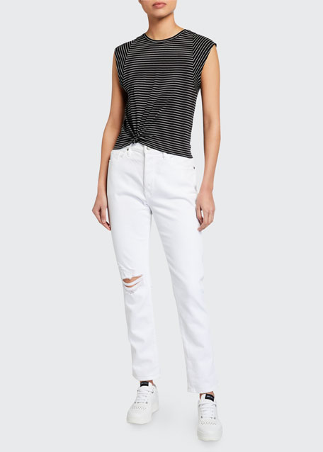 Image 1 of 1: Le Beau Straight-Leg Jeans