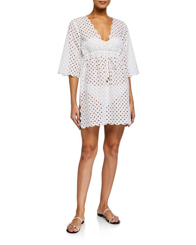 Broderie Anglaise Beach Tunic Coverup