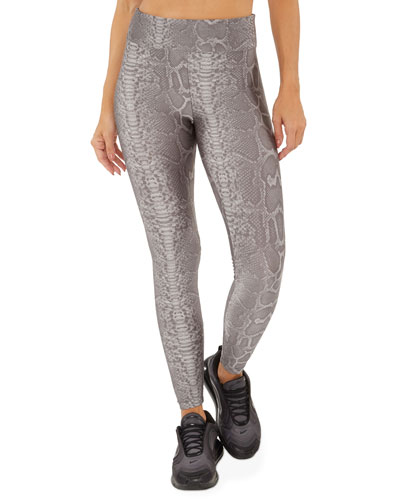 Drive Limitless Plus Python Printed High-Rise Leggings