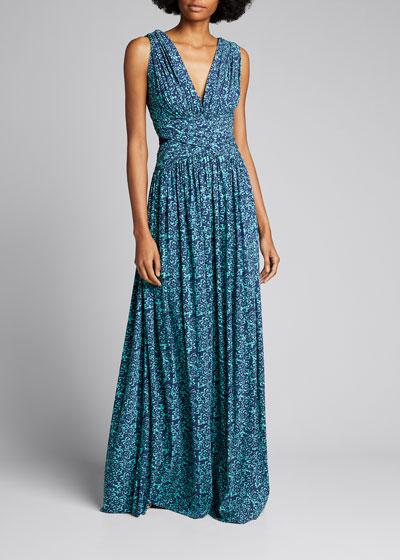V-Neck Sleeveless Flowy A-Line Dress