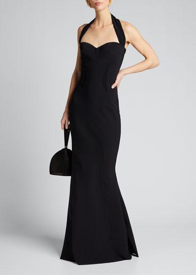 Halter-Neck Sweetheart Gown