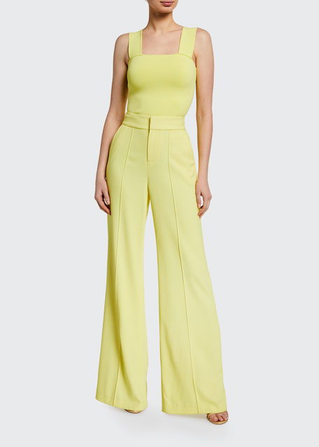 Image 1 of 1: Dylan High-Waist Wide-Leg Pants