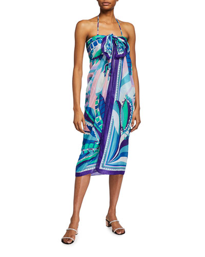 Printed Pareo Coverup