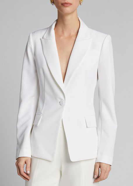 Avery One-Button Cady Blazer