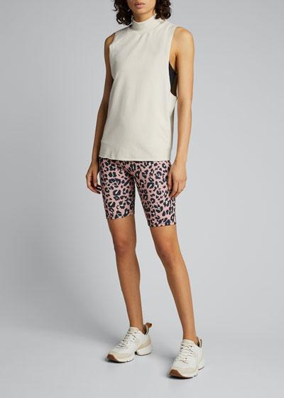Leopard Print High-Rise Bike Shorts