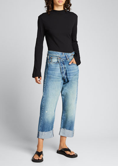 Crossover Cuffed Jeans