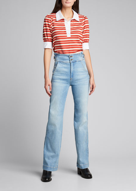 Image 1 of 1: Vira Cinched Waist Jeans