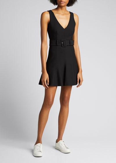 Jordan Fit-&-Flare Belted Dress