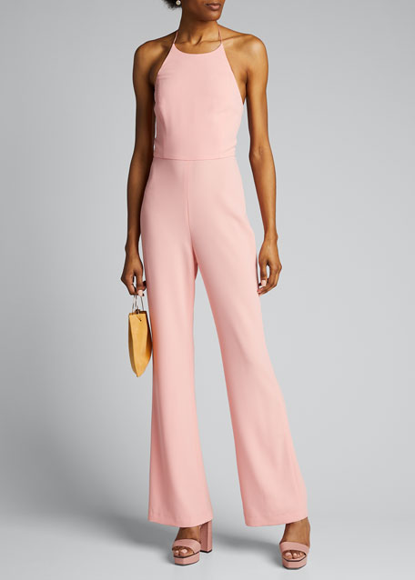 Image 1 of 1: Adinah High-Neck Halter Jumpsuit
