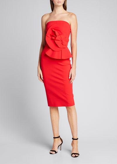 Hebe Strapless Embellished Jersey Dress