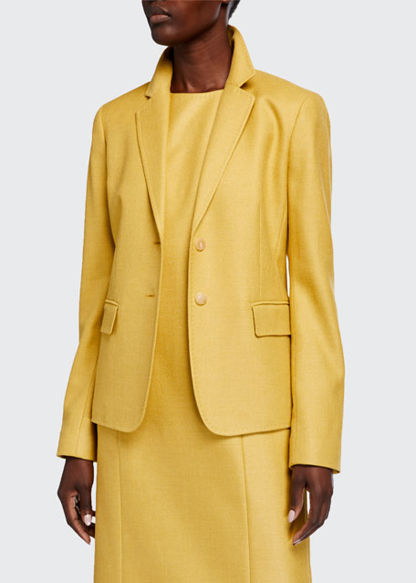 Image 1 of 1: Thatcher Studio Weave Two-Button Blazer