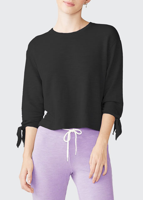Image 1 of 1: Sweatshirt with Tie Sleeves