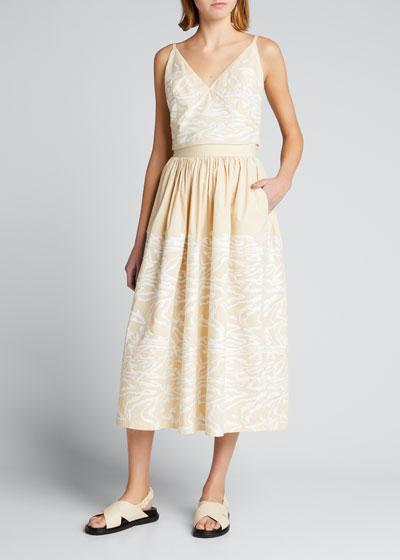 Sage Sequin Embellished Midi Skirt