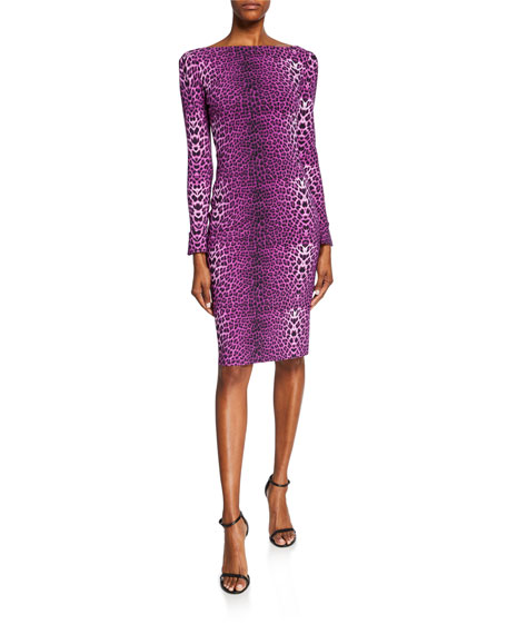 Image 1 of 1: Darsey Leopard-Print Cocktail Dress