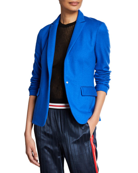 Image 1 of 1: Lexington Snap-Front Wool Blazer