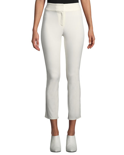 Rumi High-Waist Skinny Cotton Pants