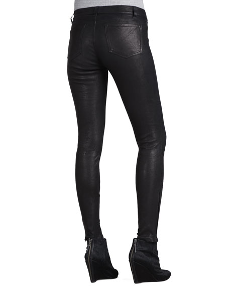 L8001 Noir Leather Super Skinny Pants