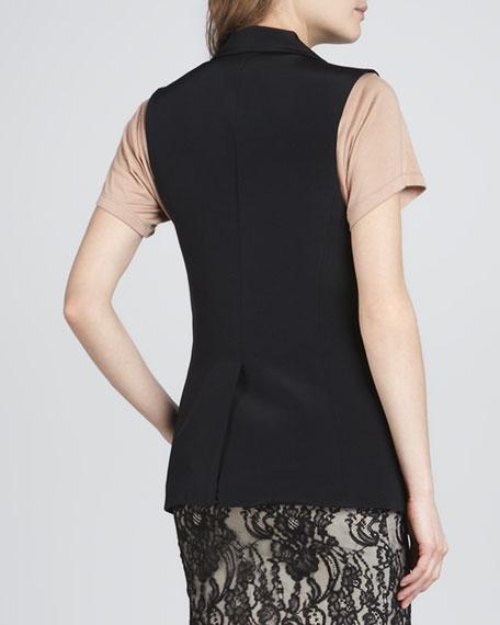 Long Collared Blazer Vest