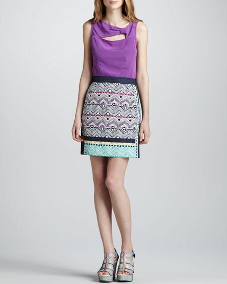 Tinos Printed Pencil Skirt