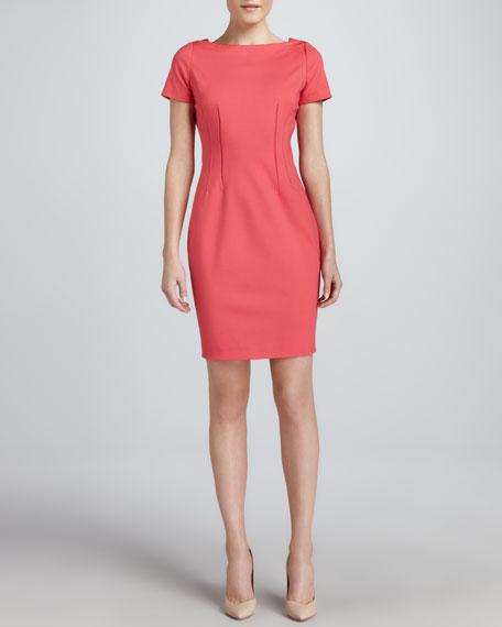 Davis Princess-Seam Sheath Dress