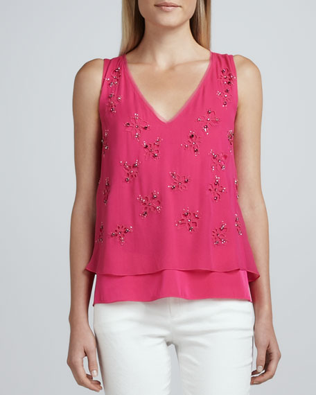 Percey Embellished V-Neck Blouse
