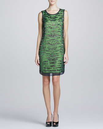 Katja Sequined Shift Dress