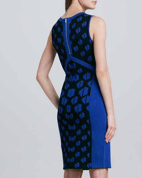 Franca Print-Panel Sleeveless Dress