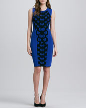 Diane von Furstenberg Franca Print-Panel Sleeveless Dress