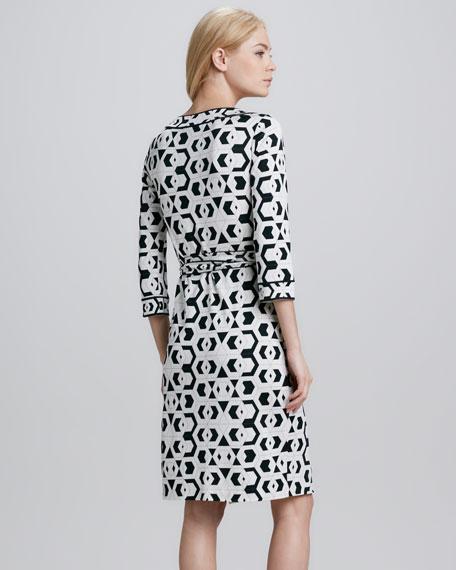 Julian Banded Hex Maze Dress