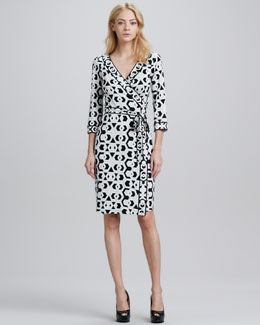Diane von Furstenberg Julian Banded Hex Maze Dress
