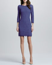 Diane von Furstenberg Zarita Lace Dress, Vivid Blue