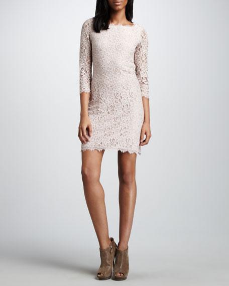 Diane von Furstenberg Zarita Lace Dress, Ivory