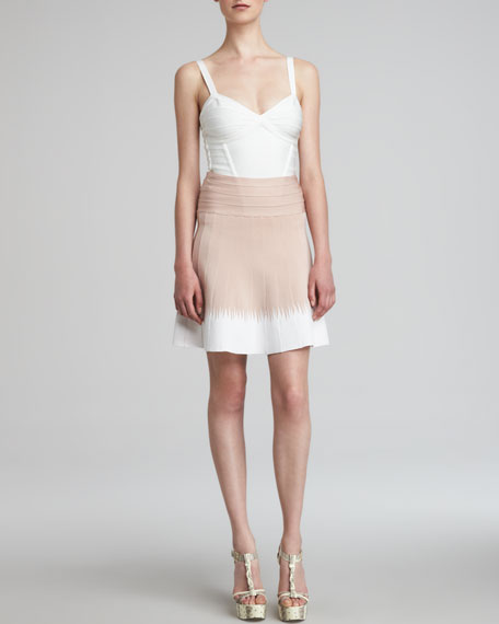 Ombre A-Line Bandage Skirt
