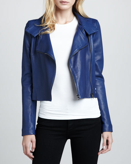 Connix Cropped Leather Jacket