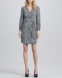 Diane von Furstenberg Sigourney Printed Wrap Dress