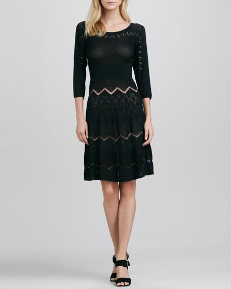 Charlotte Flared Pointelle Dress
