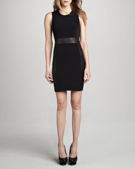 Taline Ponte/Leather Dress
