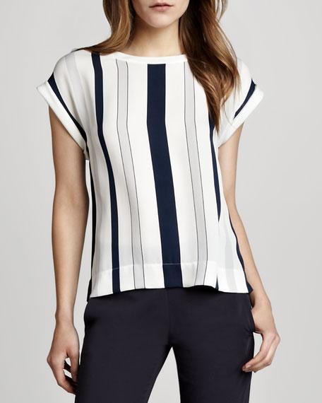 Sorcha Striped Silk Top