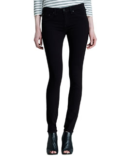 rag & bone/JEAN The Legging Jeans, Black Plush