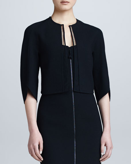 Crepe Shrug, Black
