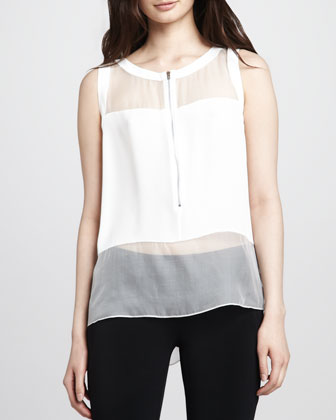 Mika Sheer-Trim Top